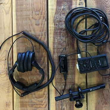 vista cenital del equipo de sonido